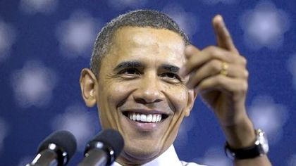 President Barack Obama gestures Wednesday while speaking at Scranton High School in Scranton, Pa.