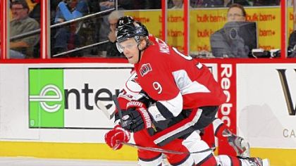 Ottawa's Milan Michalek had an NHL-best 19 goals when he was injured Tuesday night.