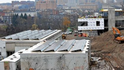 Construction is progressing on Phipps Conservatory's Center for Sustainable Landscapes.
