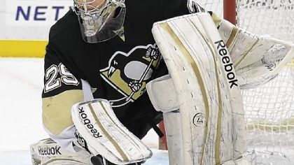 Goaltender Marc-Andre Fleury has 18 of the Penguins' 20 wins and ranks second in the league in that category.