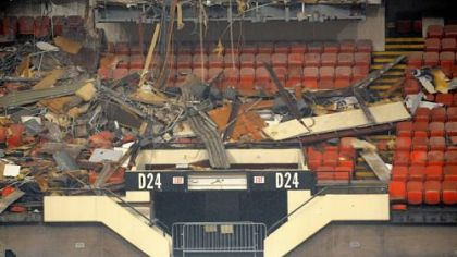 The demolition of the Civic Arena continues.