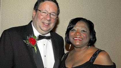 David Cohen and Urban League CEO Esther Bush.