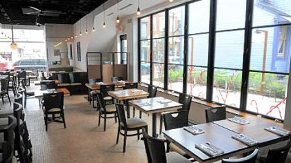 Owners Sam and Lori DiBattista opened Vivo Kitchen in Sewickley in August. Its interior has a style much different than their Bellevue restaurant.