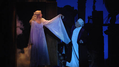 "Amanda Serra and Tom Atkins in Pittsburgh CLO's ""A Musical Christmas Carol."""