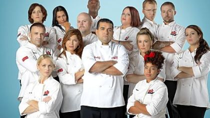 "Buddy Valastro, center, is host and judge of TLC's ""Next Great Baker,"" whose contestants include Lincoln Park resident Megan Hart, in the back row to the right of Mr. Valastro."