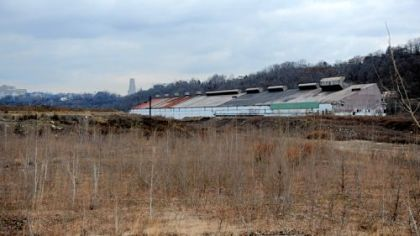 The old LTV coke works site in Hazelwood.