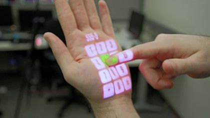 OmniTouch research from CMU allows you to use your hand as a touchpad.