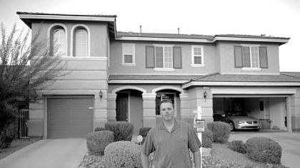 Like thousands of other Las Vegas residents, Jim Tierney was caught in the housing collapse. He bought this home in the Mountain's Edge subdivision in 2007 for $425,000. Today, he is trying to sell it for $214,000.