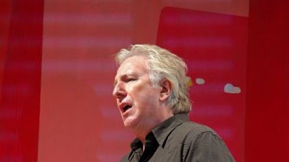 "Alan Rickman in ""Seminar"" on Broadway."