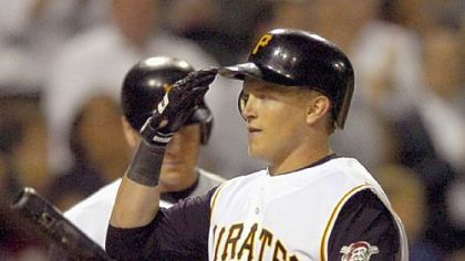 Nate McLouth enjoyed his best season as a Pirate in 2008 when he batted .276 with 26 home runs and 94 runs batted in.