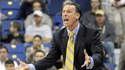 Jamie Dixon argues a late foul call against Pitt Saturday.