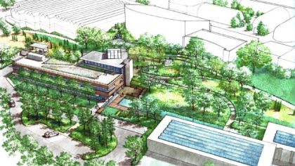 A rendering of the expansion and solar panels at Phipps.