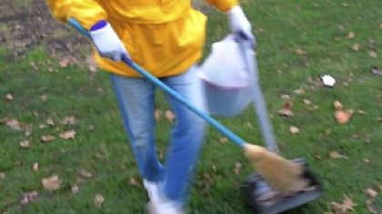 Lynn Glorieux on one of her litter pickup days in East Allegheny Deutschtown.