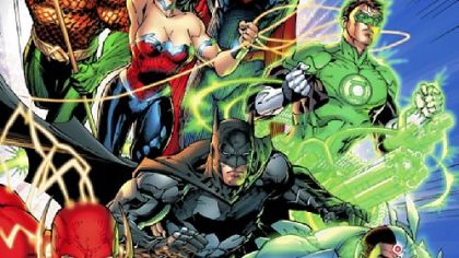 DC Comics will release &quot;Justice League #1,&quot; with cover art by Jim Lee, after midnight Wednesday.