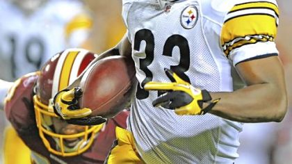 Running back Isaac Redman scored the only touchdown for the Steelers in their preseason opener Friday night against the Washington Redskins.