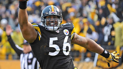 Steelers linebacker LaMarr Woodley.