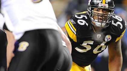 The Steelers placed the franchise tag on linebacker LaMarr Woodley.