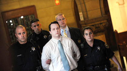 Richard Poplawski is sentenced to death at Allegheny County Courthouse.