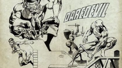 """Daredevil"" by Gene Colan/Frank Giacoia at ToonSeum."