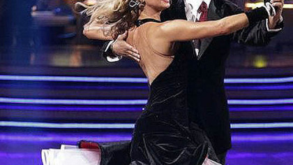 Kym Johnson and Hines Ward during the competition.