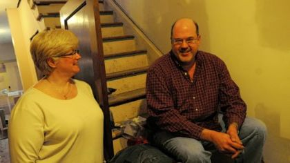Dawn and Jeff Owen are renovating a three-bedroom house in Pitcairn.