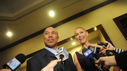 "Hines Ward and his ""Dancing with the Stars"" are interviewd at the 37th annual Art Rooney Awards at the Westin Convention Center Hotel, Downtown, on Thursday, April 7."
