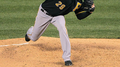 The Pirates' Kevin Correia pitched the past two seasons for San Diego.