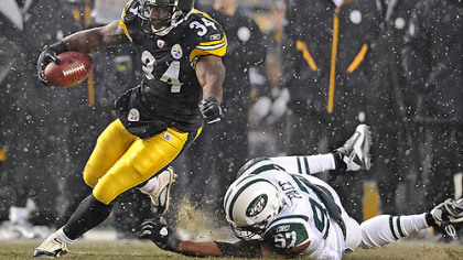 Steelers running back Rashard Mendenhall has 324 carries this season.