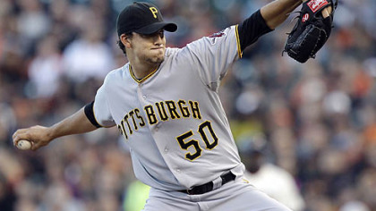 The Pirates' Charlie Morton is 3-1 with a 3.52 ERA and the most ground-ball outs in the majors.