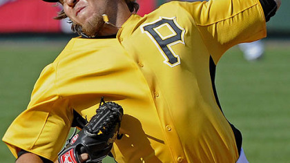 The Pirates' Daniel Moskos delivers a pitch against the Phillies at McKechnie Field in Bradenton, Fla. Friday.