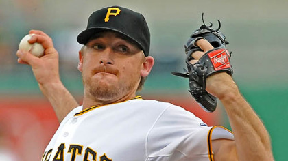 Kevin Correia, the Pirates' starter today, has a 3.84 ERA.