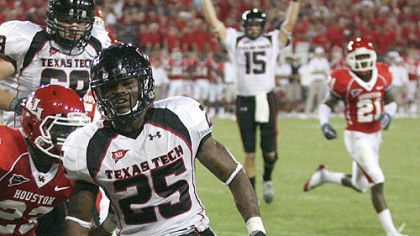 Steelers running back Baron Batch ran for 2,501 yards in his career at Texas Tech.