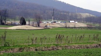 This is the natural gas well site operated by Chesapeake Energy in Leroy, Bradford County.