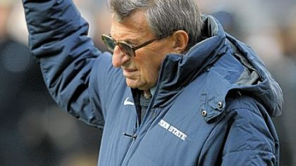 Penn State State head coach Joe Paterno.