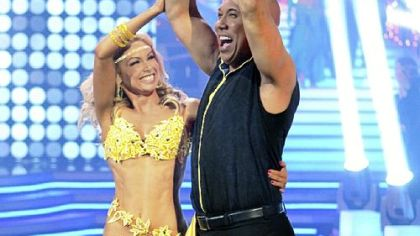 "Kym Johnson and Hines Ward celebrate their victory on ""Dancing With the Stars."""