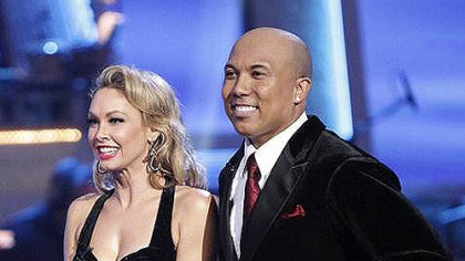 "Kym Johnson and Hines Ward appear Monday night on ABC's ""Dancing With the Stars."""