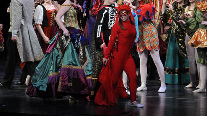 """Masquerade"" from ""The Phantom of the Opera"" is performed by Woodland Hills High School, which won best musical for budget level III at the Gene Kelly Awards."