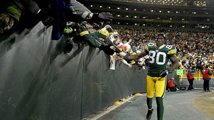 Packers wide receiver Donald Driver.