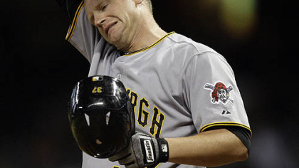 Pirates first baseman Lyle Overbay.