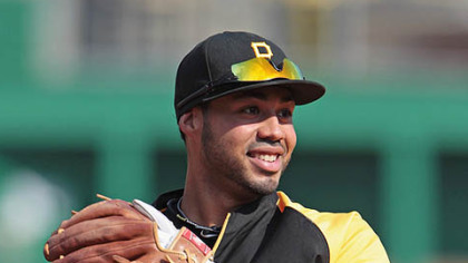 Pirates third baseman Pedro Alvarez warms up prior to Thursday's game at PNC Park.