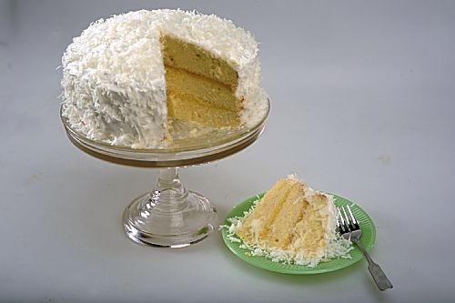 Ginger-Lime Coconut Cake With Marshmallow Frosting Recipe ...