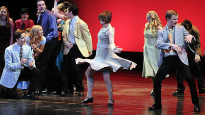 """Dance at the Gym"" from ""West Side Story"" won best musical in budget level II for Hampton High School at the Gene Kelly Awards."