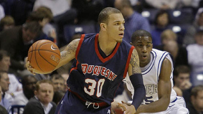 "Duquesne guard Bill Clark: ""Just the fact that we can be able to take care of [Xavier] I feel would be a good look for Duquesne."""