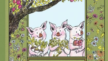 &quot;The Three Little Pigs&quot; is among the books being republished by Houghton Mifflin Harcourt.