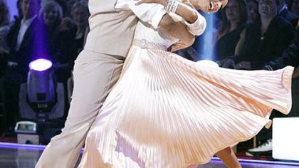 Hines Ward and Kym Johnson perform during &quot;Dancing With the Stars&quot; on Monday night.