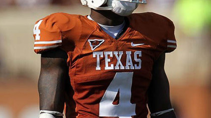 Texas cornerback Aaron Williams.