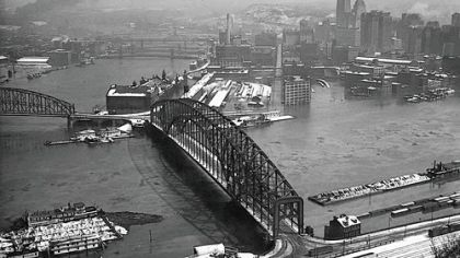 Pittsbugh&#039;s Point during the flood of 1936.