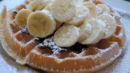 No vacation is complete without great eats. At George's Place in Cape May, waffles come topped with Nutella and bananas.