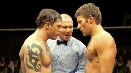 Tommy (Tom Hardy, left) and Brendan (Joel Edgerton, right) star in &quot;Warrior.&quot;