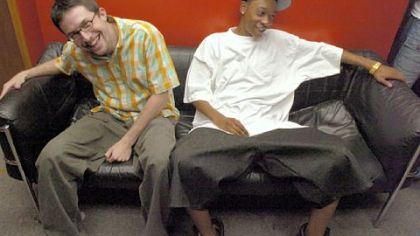 Benjy Grinberg, left, and Wiz Khalifa, pictured in 2005, were not afraid to take the long road to stardom.